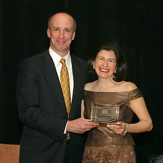 Ellen A. Roth, Ph.D. receives award from Dennis Yablonsky