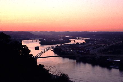 Ohio River at Sunset